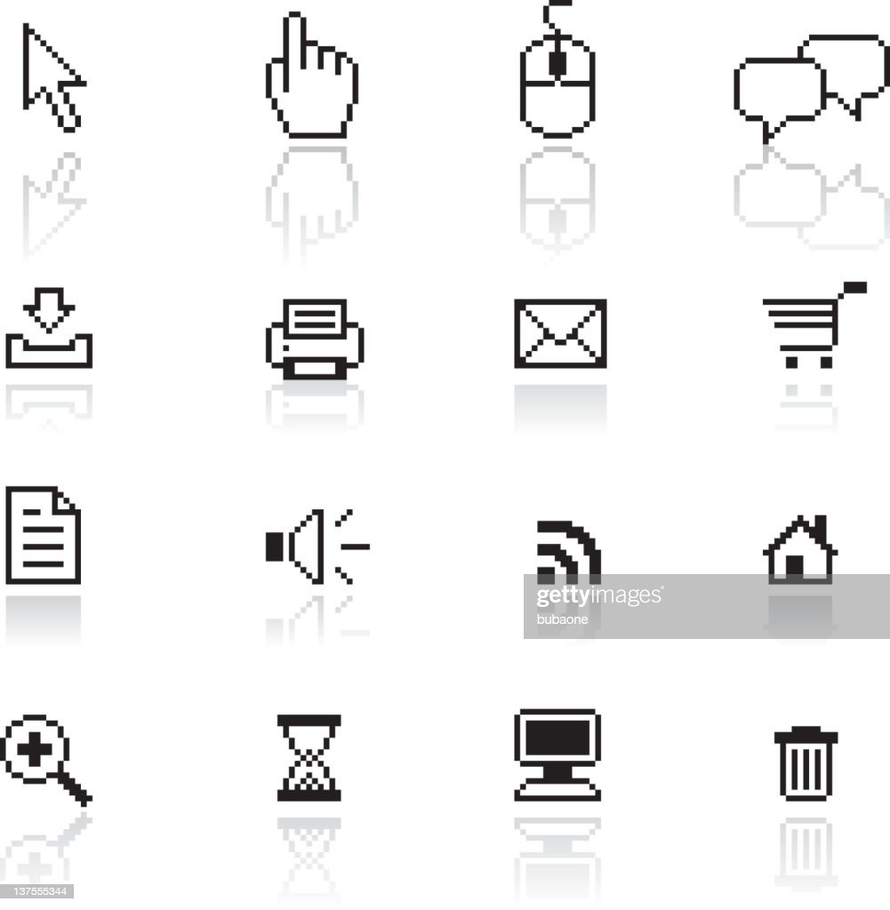 Pixel-accurate computer and technology royalty free vector arts