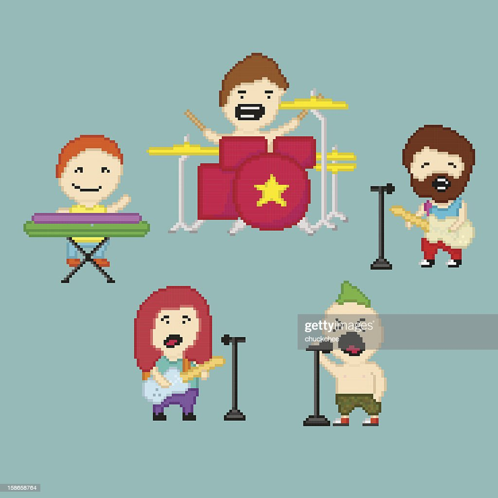 PixelArt rock band