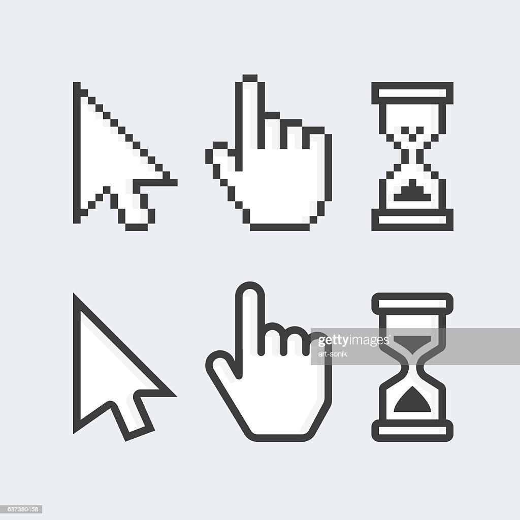 Pixelated and smooth vector cursors.
