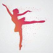 Pixelated ballerina