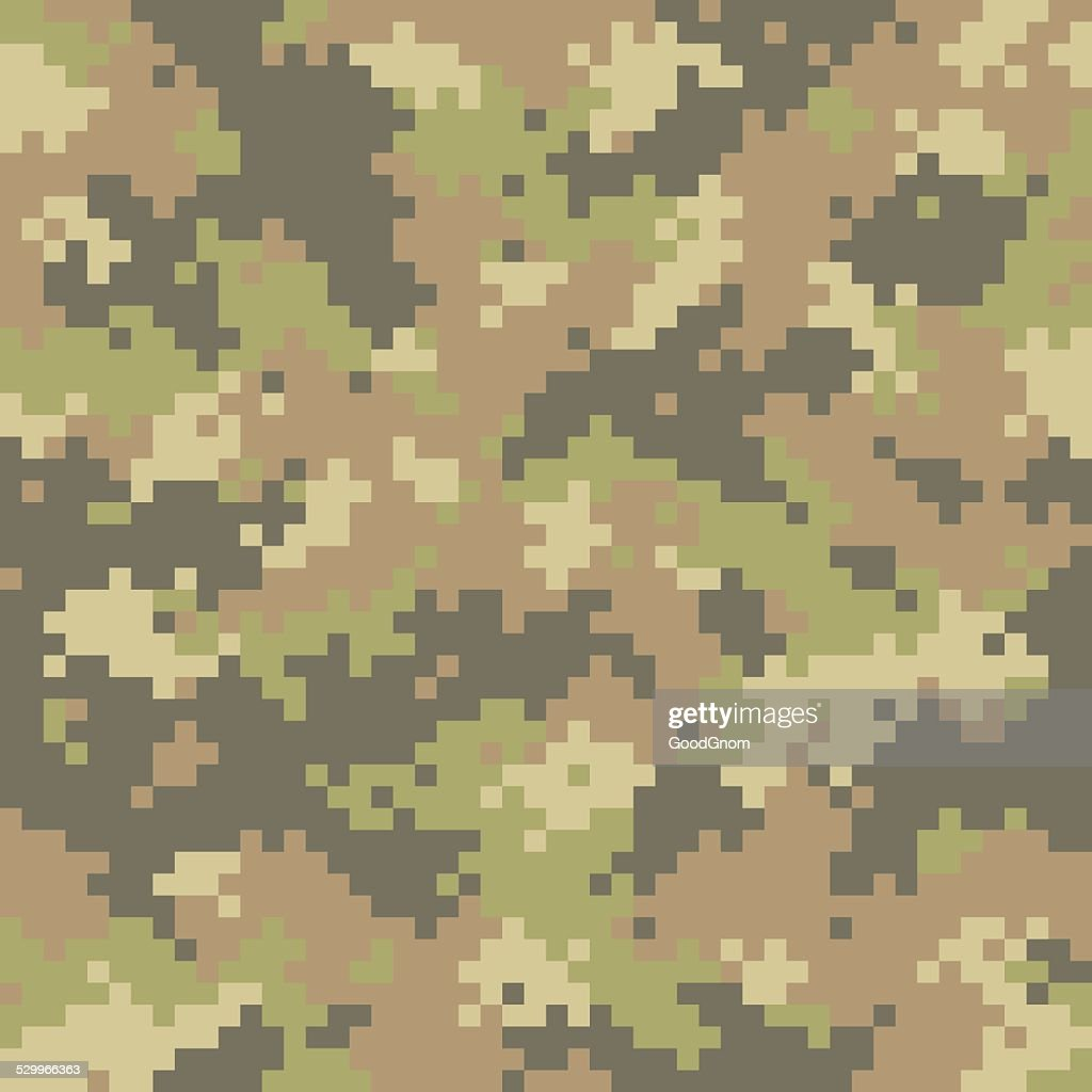 Pixelated camouflage seamless