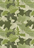 pixelated jungle green camouflage repeat pattern
