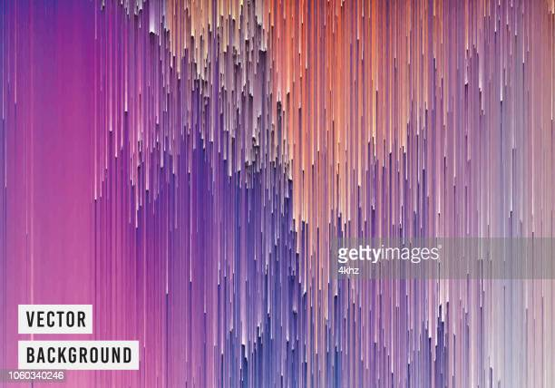 pixelated magical lines abstract texture purple background - surrealism stock illustrations