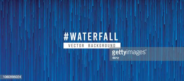 Pixelated Rain Storm Abstract Texture Blue Background