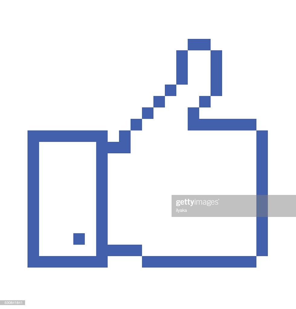 pixelated Thumb Up icon