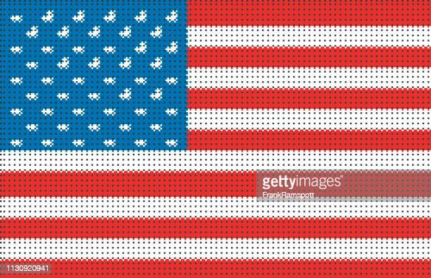 USA pixelte Vektorfahne