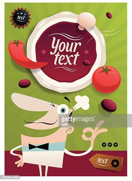 ilustrações, clipart, desenhos animados e ícones de padeiro de pizza - chef de cozinha