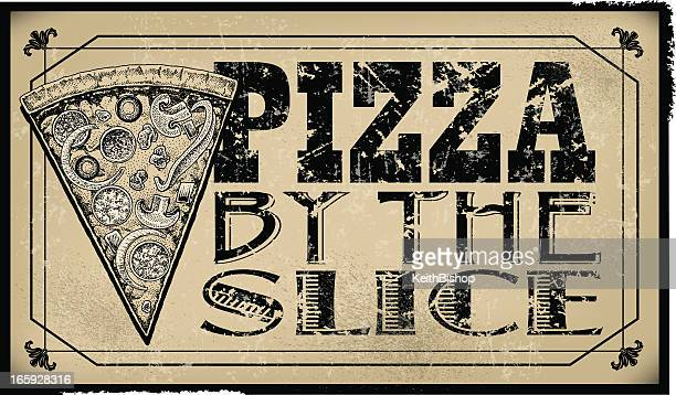 Pizza By The Slice Sign