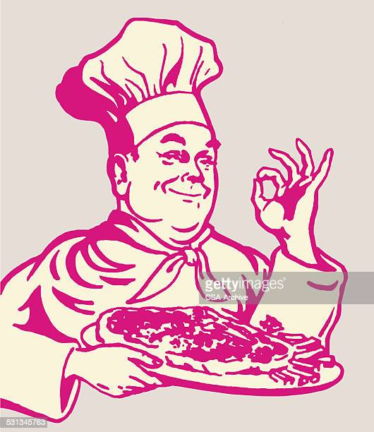 Pizza Chef Gesturing
