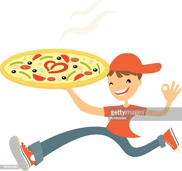 Ilustraciones de Stock y dibujos de Repartidor De Pizza   Getty Images