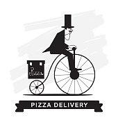 Pizza Delivery Service, Vector icon.