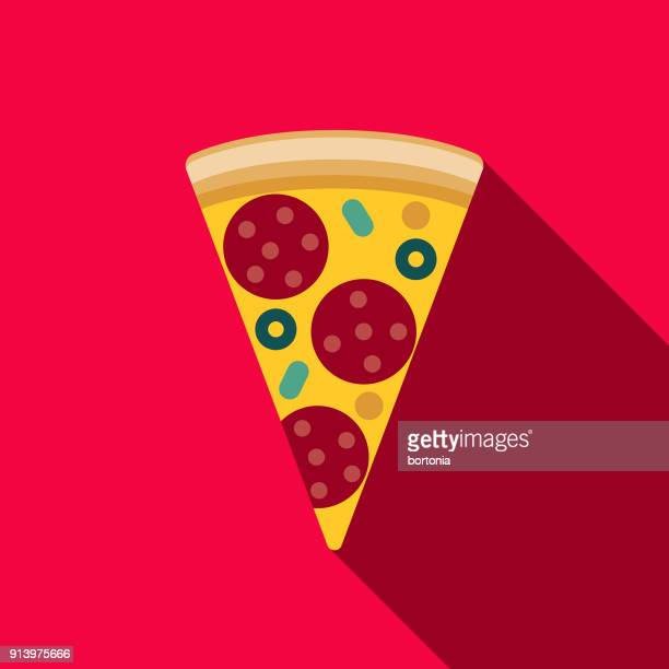 Pizza Flat Design Fast Food Icon