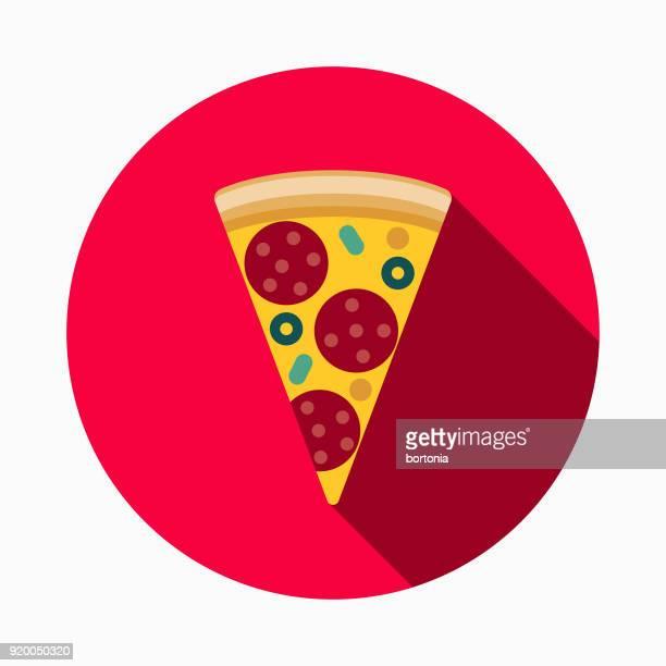 Icono de comida pizza calle plana de diseño