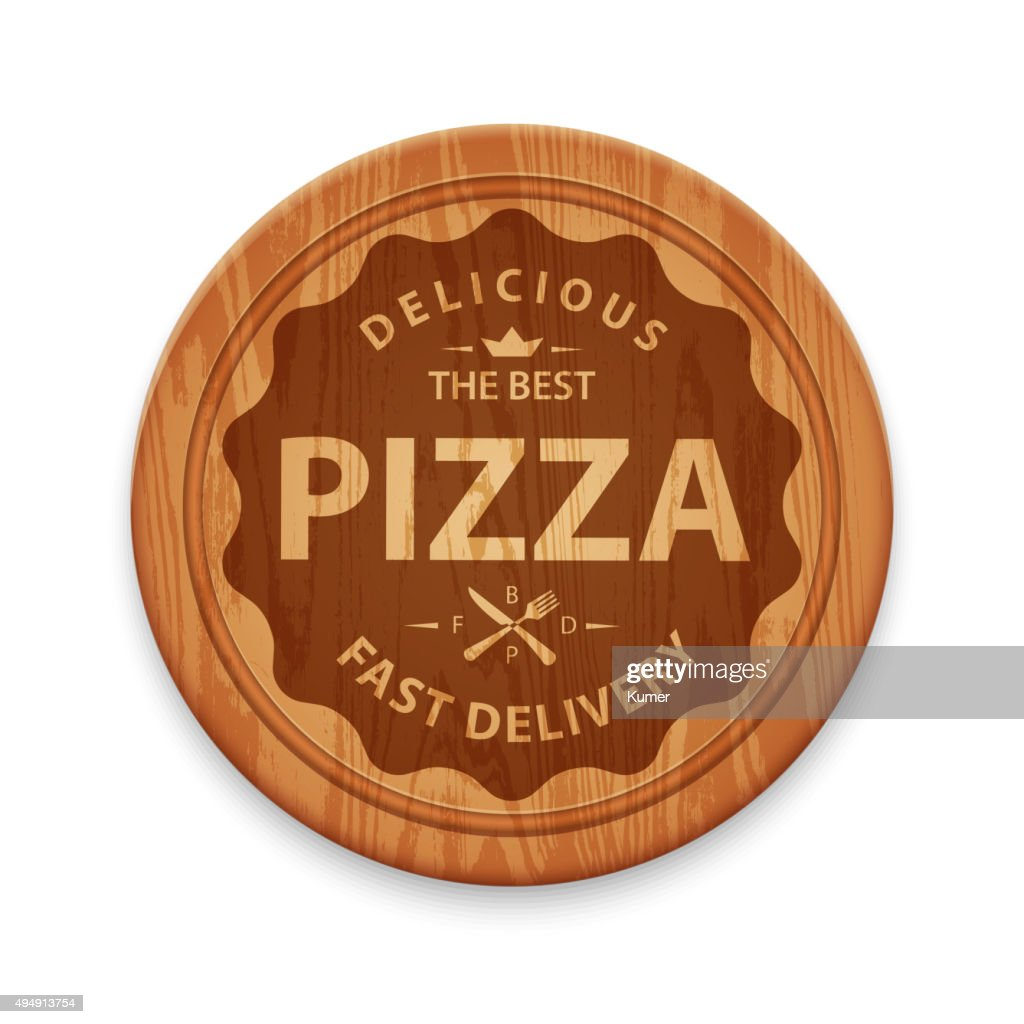 Pizza hipster badge