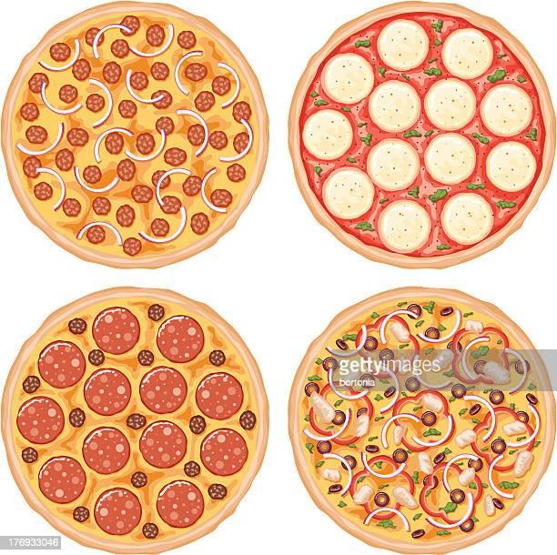 ilustraciones, imágenes clip art, dibujos animados e iconos de stock de icono de pizza - pizza