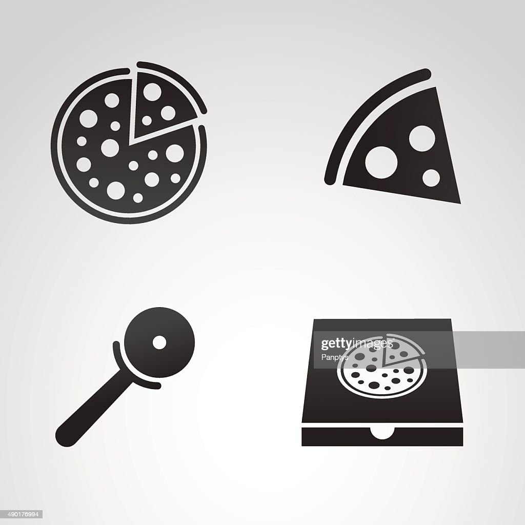 Pizza icon set.