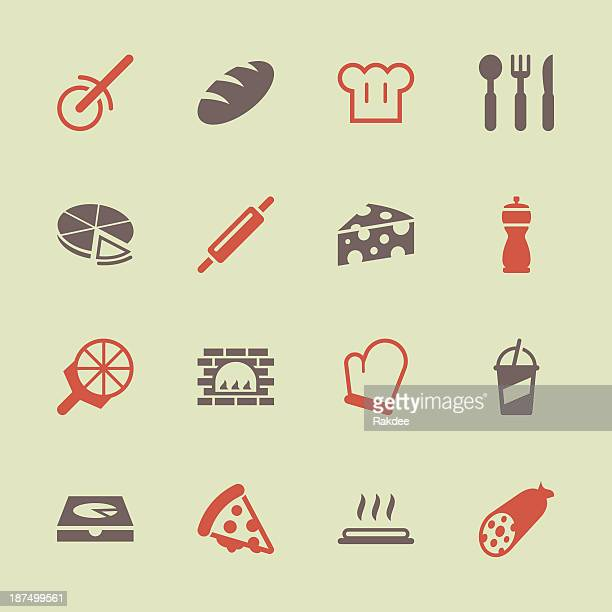 Pizza Icons - Color Series