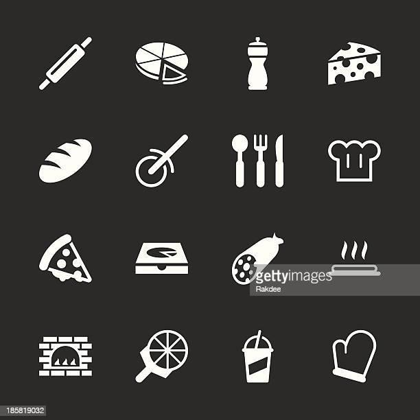 Pizza Icons - White Series