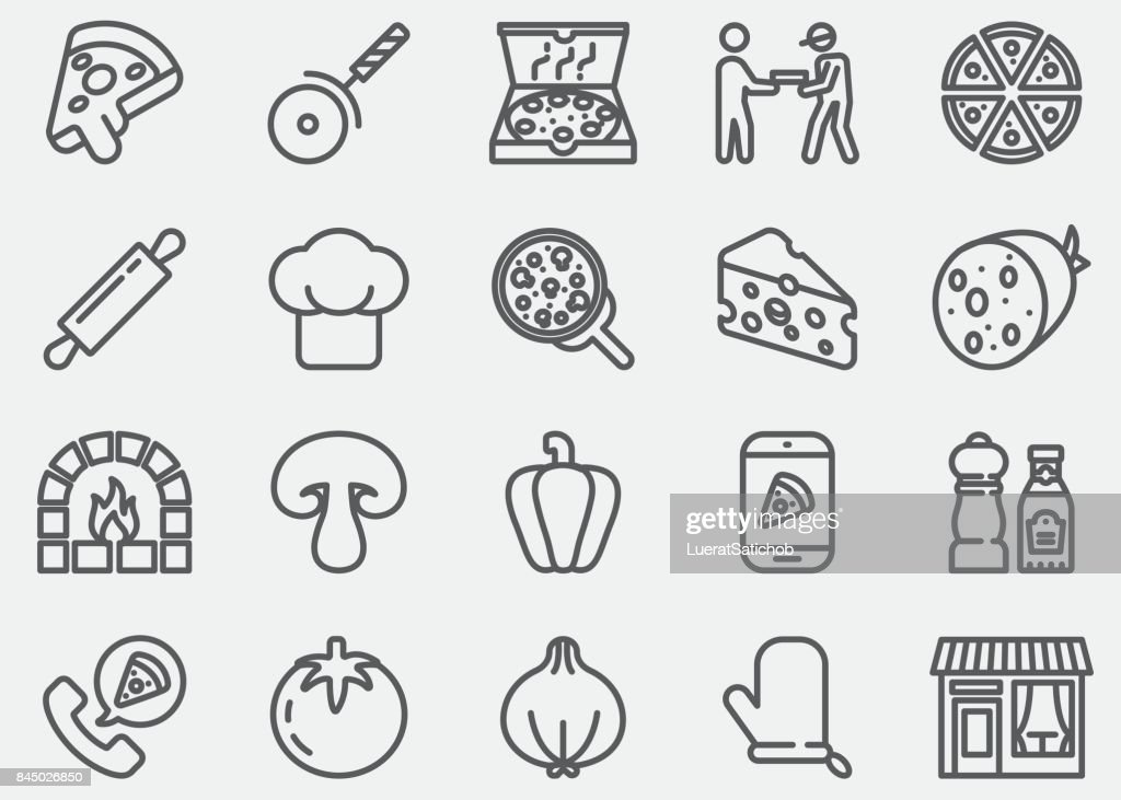 Pizza Line Icons