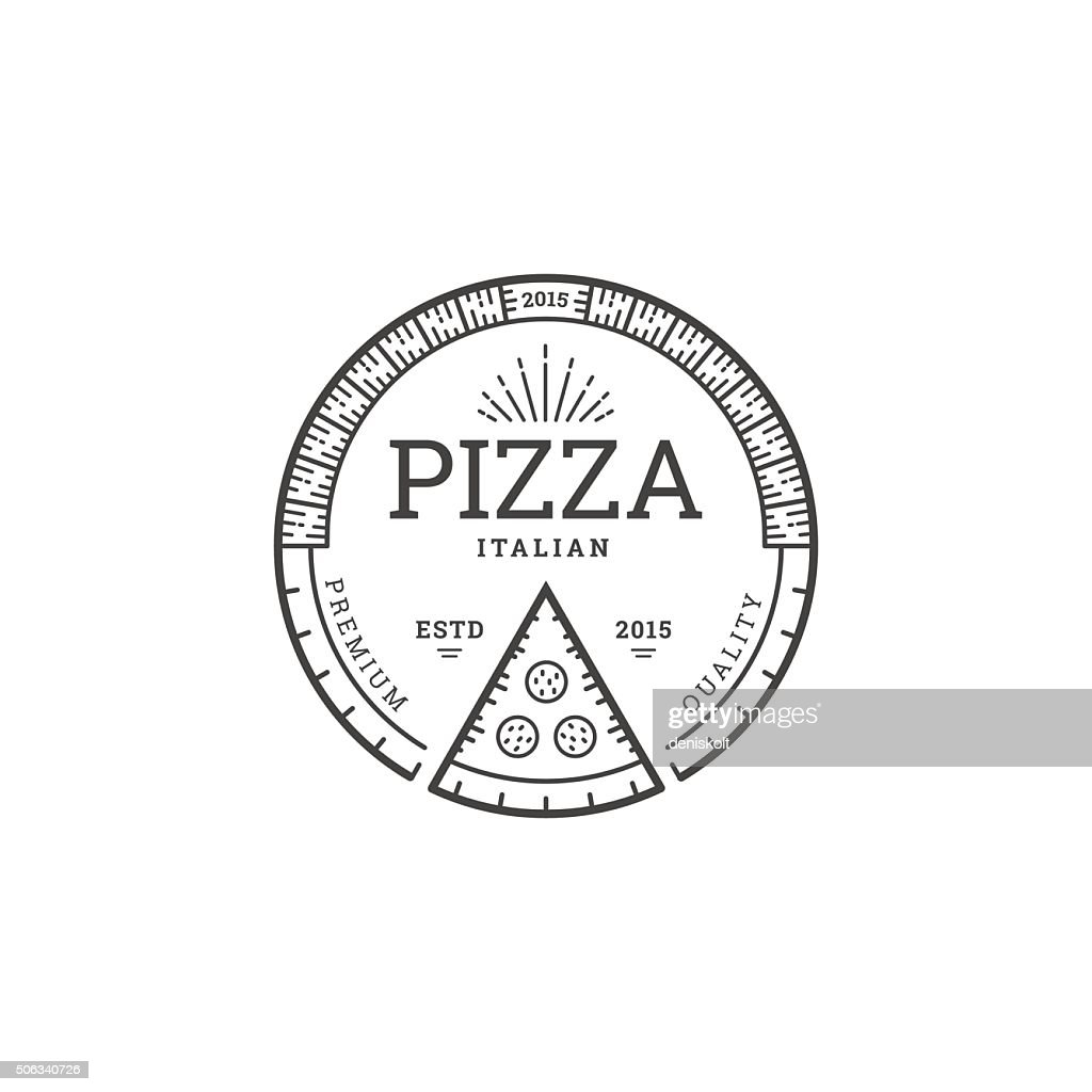 Pizza logo template