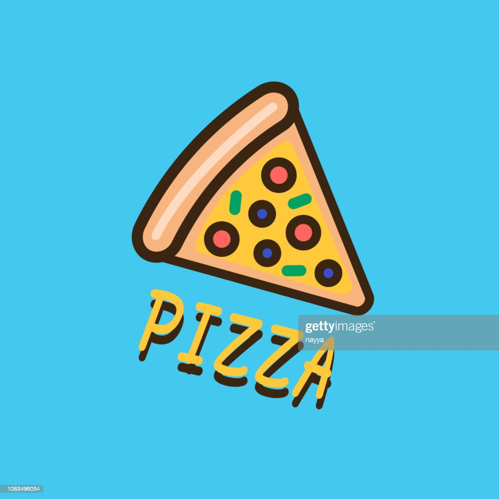 Pizza logotype template