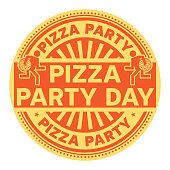 Pizza Party Day stamp