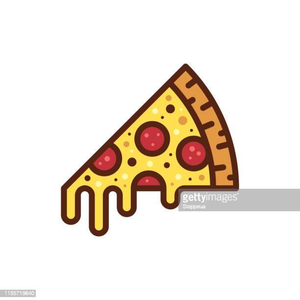 ilustrações de stock, clip art, desenhos animados e ícones de pizza slice icon - pizzaria