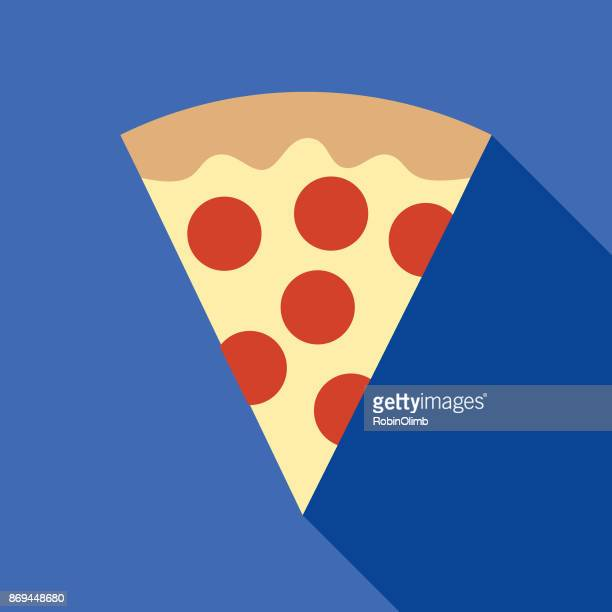 pizza slice icon - pastry dough stock illustrations, clip art, cartoons, & icons