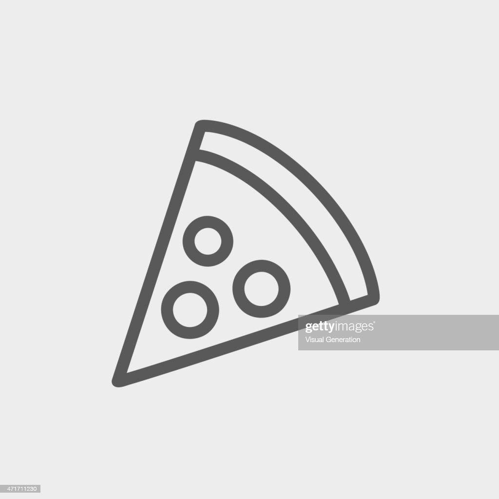 Pizza Slice Thin line icon