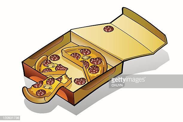 Pizza slices box