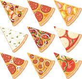 Pizza Slices Icon Set