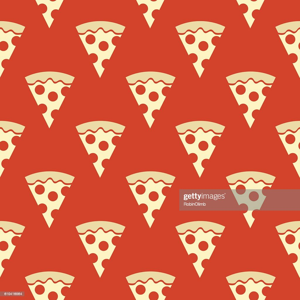 Pizza Slices Seamless Pattern