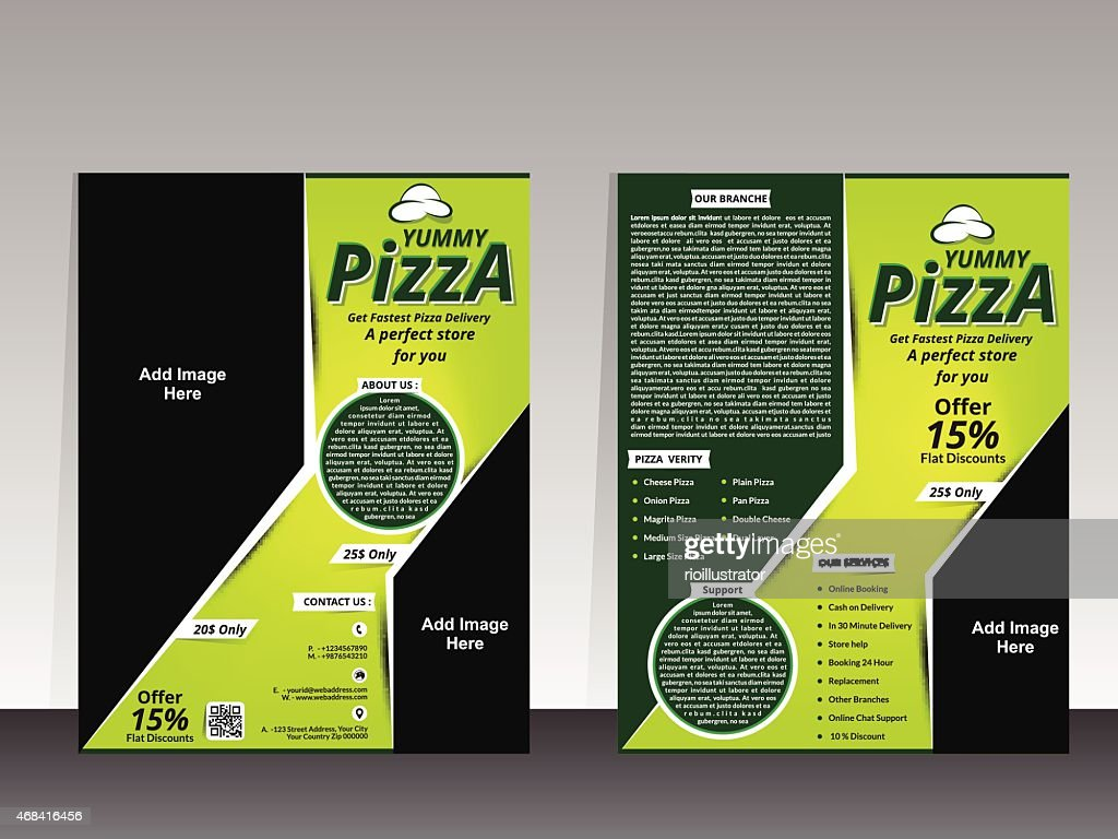 pizza store flyer design