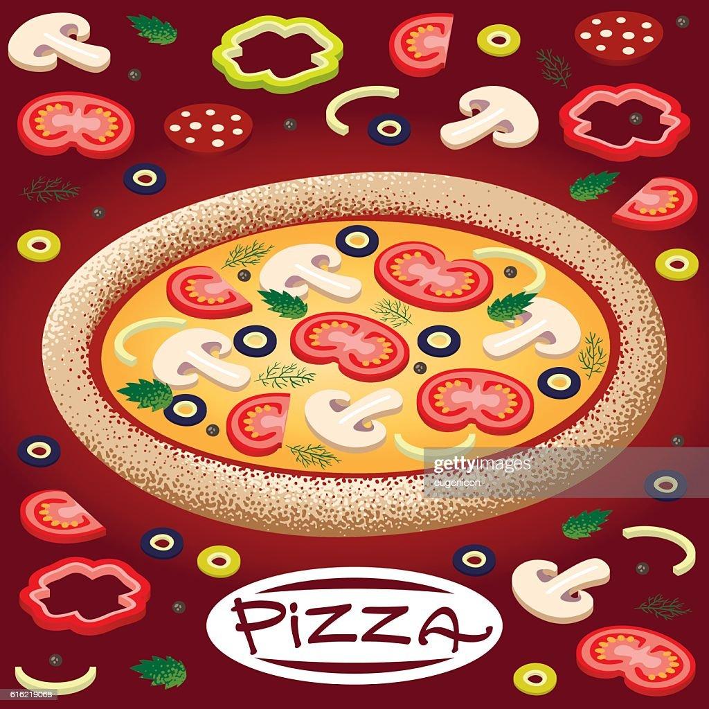 pizza : Vector Art