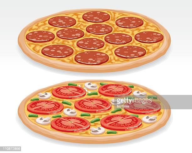 ilustraciones, imágenes clip art, dibujos animados e iconos de stock de las pizzas - pizza