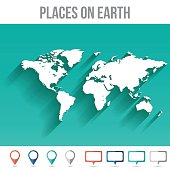 Flat world map clip art download 1000 clip arts page 1 places on earth world map flat vector illustration gumiabroncs Gallery