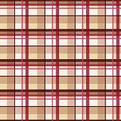 Plaid tartan seamless pattern, beige style