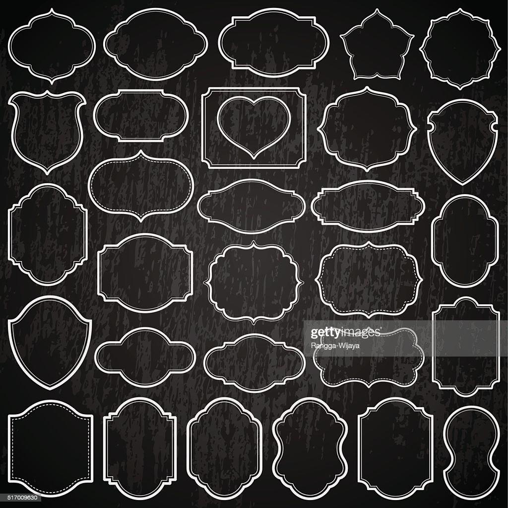 Plain Frames On The Blackboard