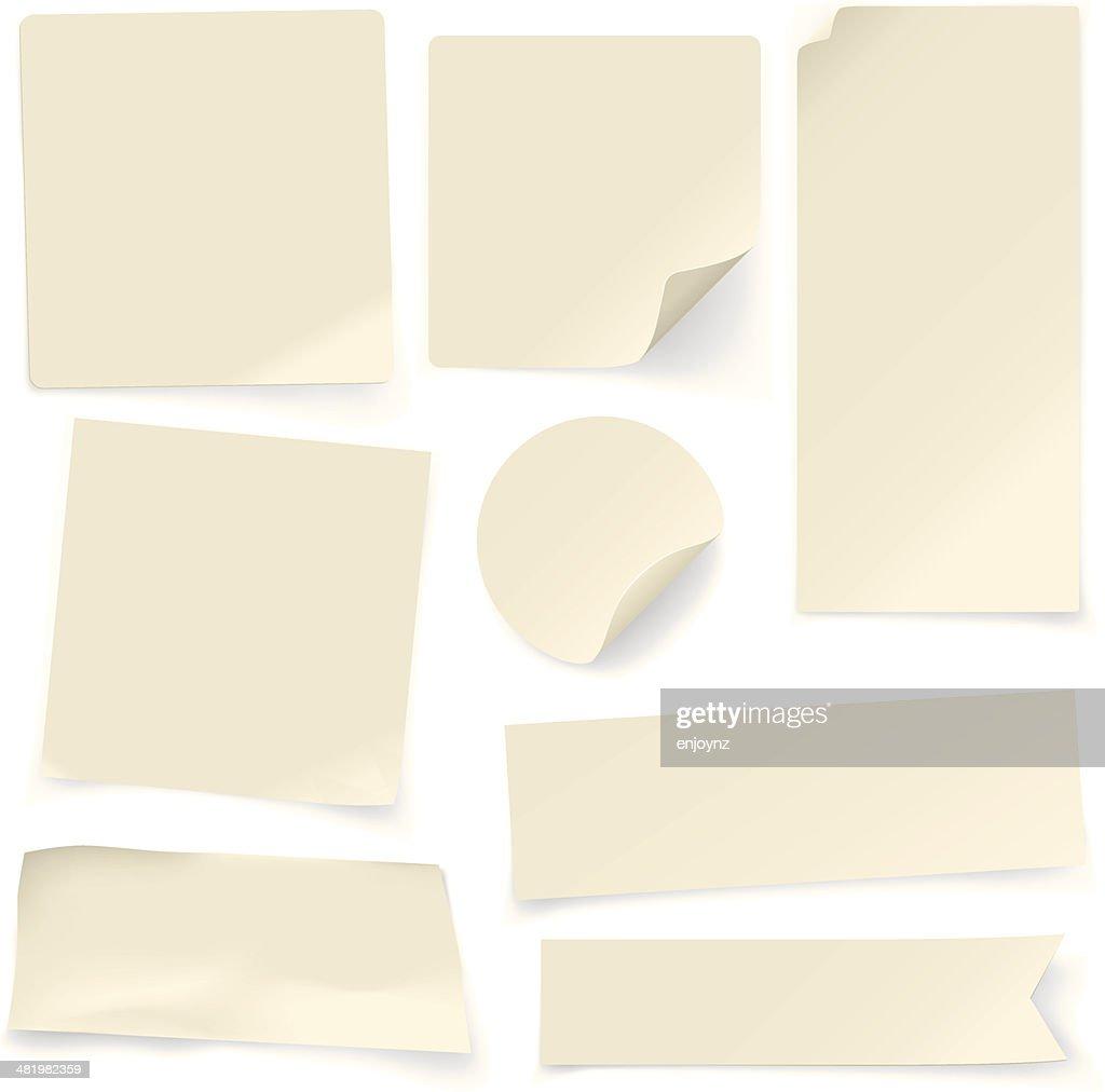 Planície notas de papel : Ilustração