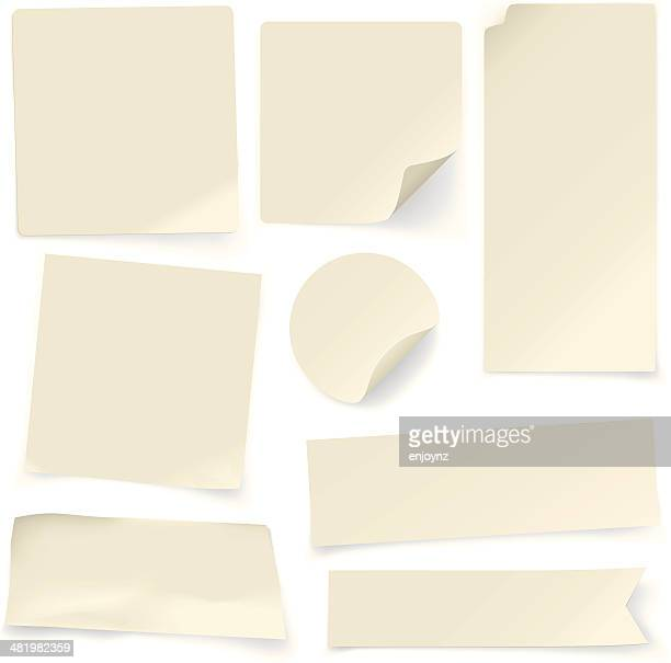 plain paper notes - part of stock illustrations