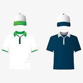 Plain polo t-shirt template.