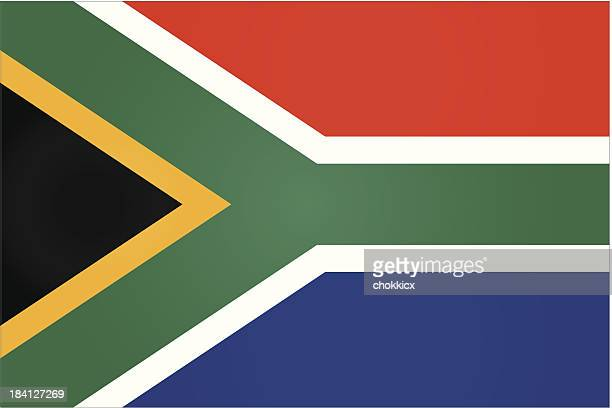 Plain South African flag graphic