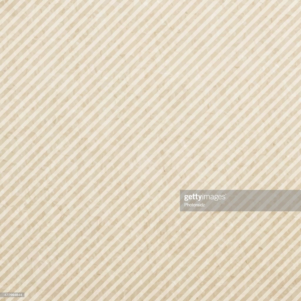 Plain square of paper with brown and cream diagonal stripes