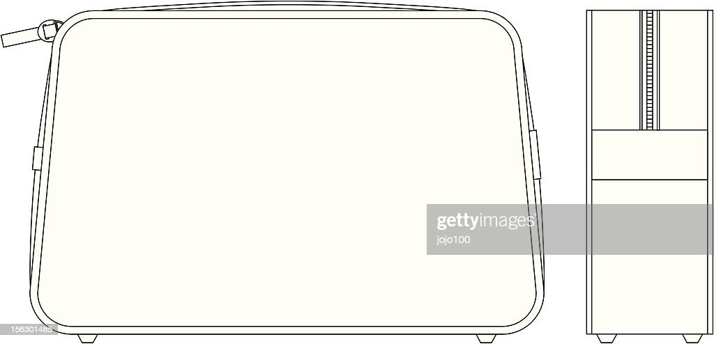 Plain Wash Bag Fashion Flat Template Vector Art