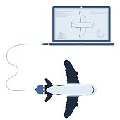Plane automation using laptop