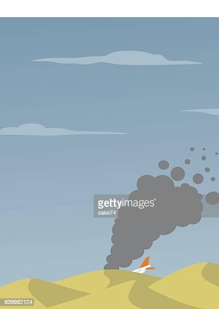 illustrations, cliparts, dessins animés et icônes de avion accident de - catastrophe aérienne