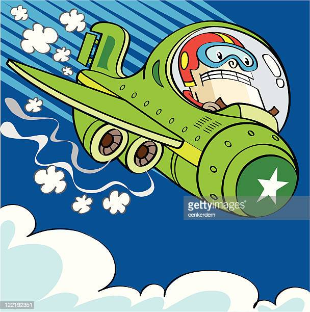 plane is falling down - runaway vehicle stock illustrations, clip art, cartoons, & icons