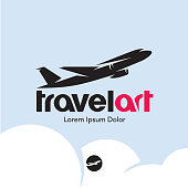 Plane logo. Travel