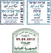 Plane Passport Stamps