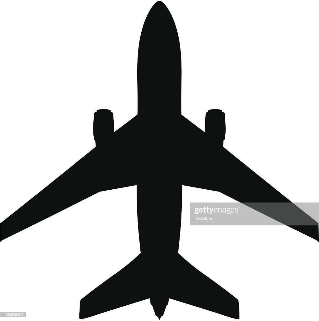 Plane silhouette vector art getty images plane silhouette airport symbol vector art buycottarizona Gallery